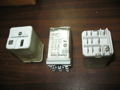 Lot of 3 Allen Bradley 700-HB33A1-4 Series A 120 Volt Relays