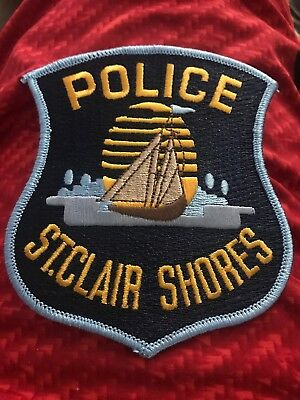ST CLAIR SHORES POLICE Michigan MI PD patch