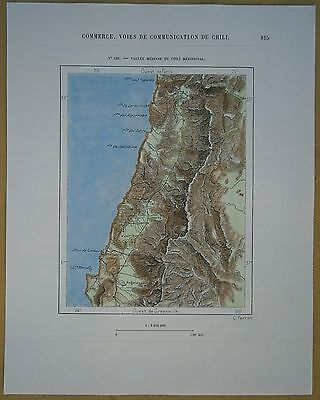 1893 Perron map CENTRAL VALLEY, CHILE (#155)