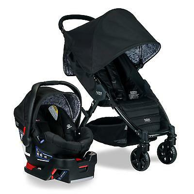 Britax Pathway Stroller & B-Safe 35 Car Seat Travel System Sketch Black New