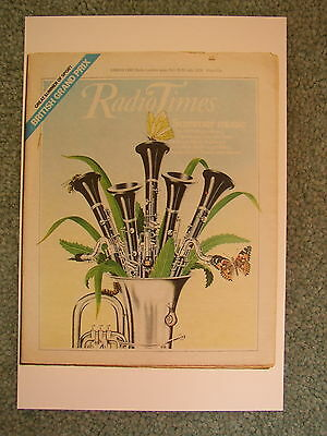 Postcard Vtg Radio Times cover July 1978 Clarinet Oboe BBC Proms Music Woodwind