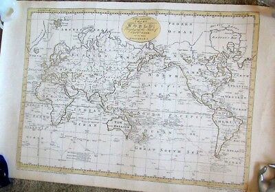 "MAP PRINT "" cAPTAIN COOK & OTHER NAVIGATORS "" limited edition"