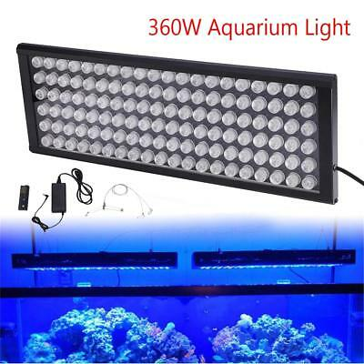 360W LED Dimmable Aquarium Light Panel Full Spectrum for Coral Reef Fish Tank