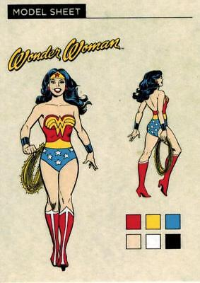 2016 Cryptozoic DC Comics Justice League Model Sheet Insert MS3-Wonder Woman