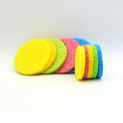 10PCS Face Facial Washing Sponge Makeup Remover Cleaning Pad Puff Exfoliator S1