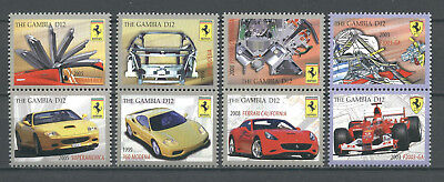 Automobile, Cars, Rennwagen - Gambia - 6165-6172 ** MNH 2010