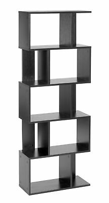 ts-ideen Design Regal Hochregal Standregal Bücherregal CD-Regal Holz schwarz NEU
