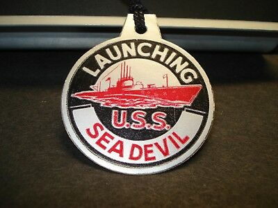 Submarine USS SEA DEVIL SS-400 Naval Tag 1944 WWII LAUNCH TAG