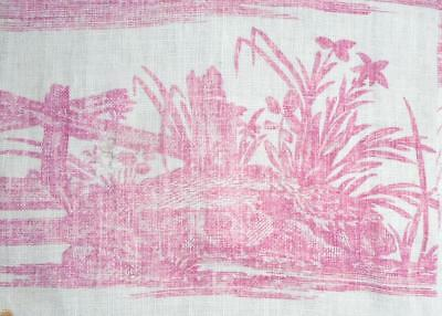 SUMMER CLEAROUT, FRAGMENT LATE 18th CENTURY FRENCH TOILE DE JOUY c1785, 202.
