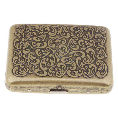 Metal Cigarette Case Stash Box Pocket Tobacco Storage Case Hold 20 Cigars G