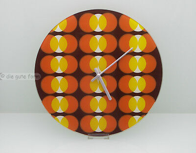 70er... POP ART ... --- WANDUHR aus GLAS --- in tollem Design --- Quarz-Uhrwerk