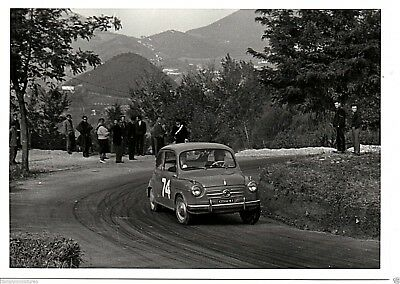 Fiat 600 #74 in Action Original Italian Attual Foto Photograph