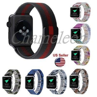 Milanese Stainless Steel Magnetic Apple Watch Band strap Series 3 21 38/42mm
