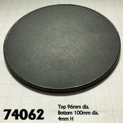 REAPER MINIATURES - 74062 Socle Rond Plastique x1 (Round Gaming Base) 100mm