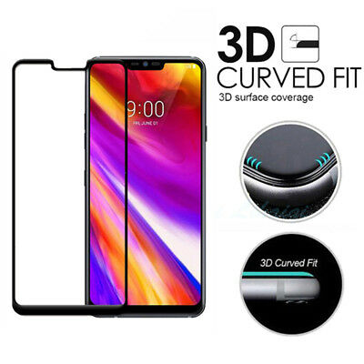 9H 3D Full Cover Tempered Glass Screen Protector Flim Guard for LG G7 ThinQ