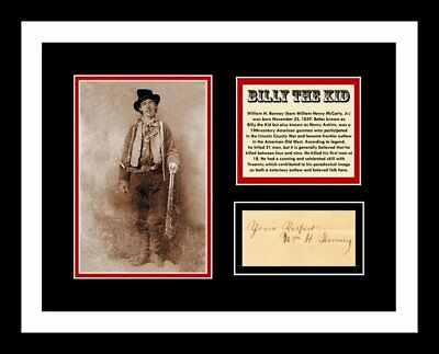 BILLY THE KID *SIGNED* AUTO CUT 11x14 PHOTO DISPLAY *READY 2 FRAME*