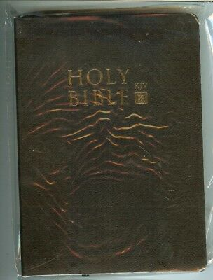 Holy bible old & new testaments king james version, black, 7 1/2 by 5 in, NEW!