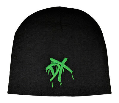 buy popular 2b925 67e35 DX Green Embroidered Logo D-Generation X Beanie Cap Hat WWE