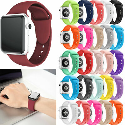 For Apple Watch iWatch Sports Series 1/2/3/4 Silicone Bracelet Band Strap 38/42