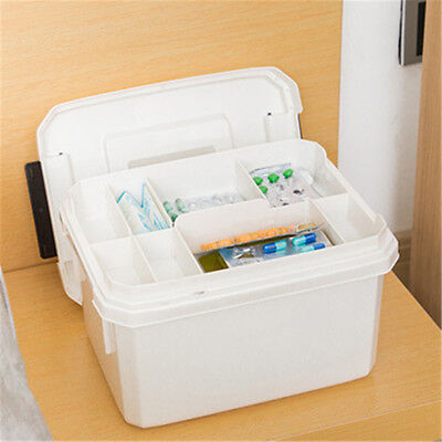 Household Medicine Box Storage Basket First Aid Medical Container Large Capacity