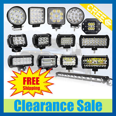 CREE LED Work Light Bar Spot Flood Off-road Roof Bulbs Driving Lamp Truck Car