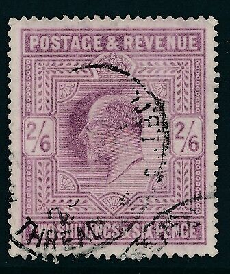 1902-1910 GB 2/6d DULL PURPLE LIGHTLY USED OVAL CANCEL SG262
