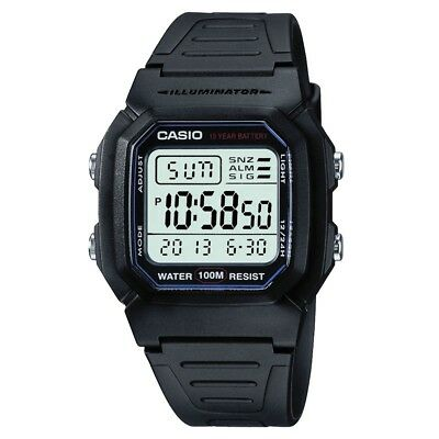 Casio Digital LCD Sport Watch with Stopwatch Alarms Timer WorldTime W-800H-1AVES