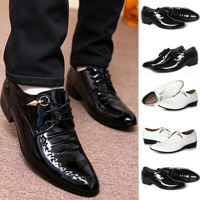 Luxury Fashion Men's Classical Lace Up Leather Shoes Wedding Party Dress Shoes