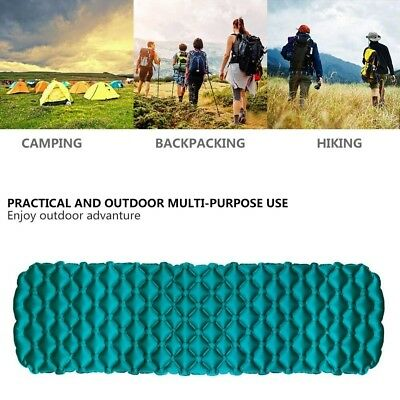 Portable Sleeping Mattress Inflatable Pad Ultralight Air Bed Camping Hiking Mat