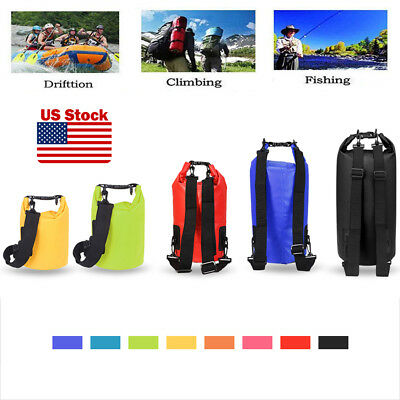 Waterproof 2L-20L Dry Bag Canoe Kayak Boating Camping Swimming Hiking Sack Bag