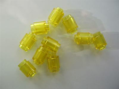 Parts /& Pieces 10 x Lego Transparent yellow Nose cone small 1x1-4567332