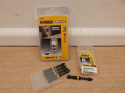 Dewalt Dt70547T Magnetic Impact Torsion Screwlock Sleeve + Dt7998T 50Mm Ph2 Bits