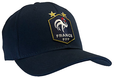 48cea56fe FFF Hat French Soccer Team Blue Ball Cap Cotton Structured France World Cup