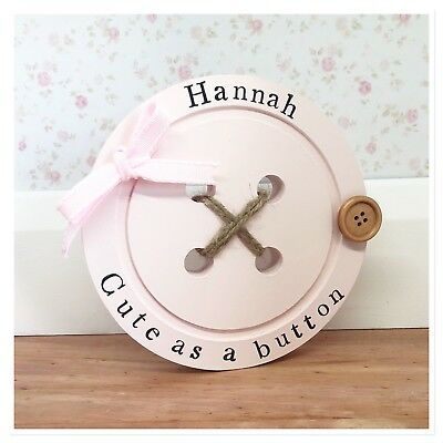 Personalised  Handmade Baby Name Birth Nursery Girl Boy Christening Gifts