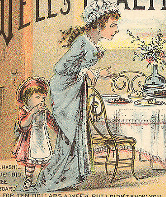 Wells' Health Renewer Trade Card, Rough On Rats,+ Mother Swans Worm Syrup  K577
