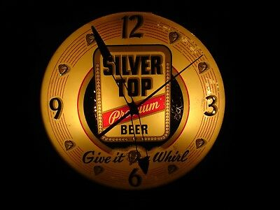 Silver Top Premium Beer Clock, Duquesne Brewing Company