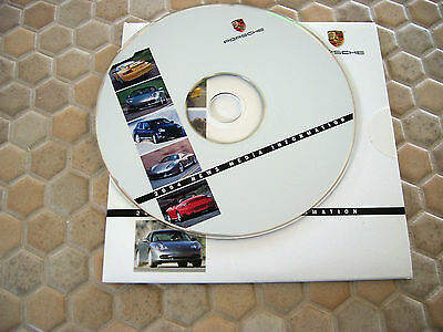 Porsche Official Cd Rom 911 Boxster Cayenne Press Brochure 2004 Usa Edition