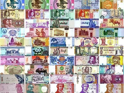 World Currency  - Uncirculated Banknote Set - Lot of 50