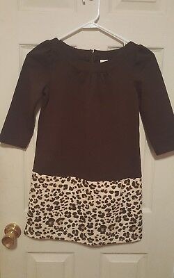928939428dd NWT Gymboree RIGHT MEOW 5 6 GOLD LEOPARD SWEATER DRESS Girl Tan Brown Animal  5T