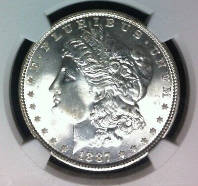 1887-P Morgan Silver Dollar ~ Ngc Ms 64+