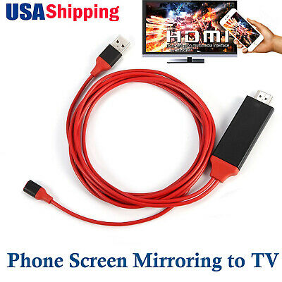 Phone to HDMI TV USB Video Adapter Cable for iPad iPhone 5s 6 7 8 Plus XS MAX XR