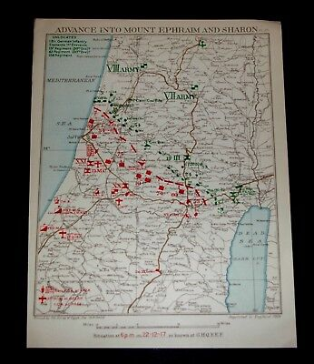 EGYPTIAN EXPEDITIONARY FORCE ADVANCE TO MT. EPHRAIM & SHARON 22/12/1917 Plate29