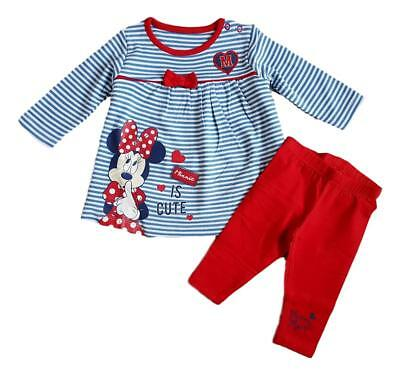 Baby Girls MINNIE MOUSE 2pc Set Outfit Top & Leggings 100% Cotton