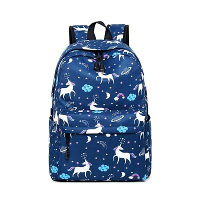 7ff986ede530 Wearable Casual Students Backpack Unicorn Animals Printed Canvas Girl  Travel Bag
