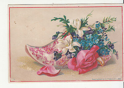 Charles Tollner Jr Advertising Cards Brooklyn NY Pink Slipper Vict Card c 1880s