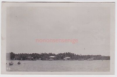 Malaya Village On The Prai River Crocodile Hunt Real Photo Postcard 1919 - 49