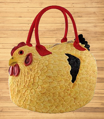 Rubber Chicken Purse The Hen Bag Handbag Constructed rubber with nylon hand