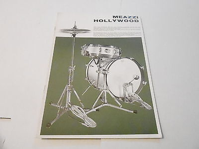 VINTAGE MUSICAL INSTRUMENT CATALOG #10069 - 1960s MEAZZI HOLLYWOOD DRUMS