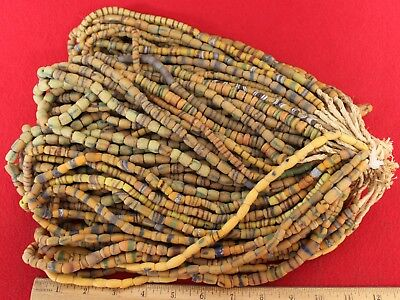 Bundle of (50) Strands of Sandcast Trade Beads #13....Buy It Now