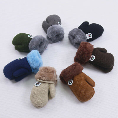 Newborn Baby Unisex Boy Girl Gloves Warm Knitted Cashmere Gloves Cotton Mittens